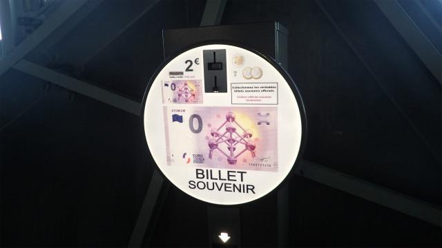 2ユーロで0ユーロの記念紙幣がかえる
