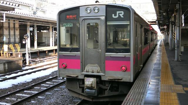 秋田で奥羽本線東能代行きに乗り換えて終点まで。