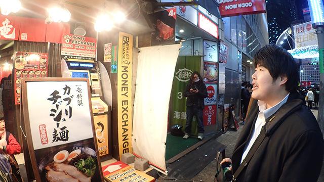 「渋谷はまったく知らないんですが、見た感じラーメン屋は多いですね。ハイレベルな戦いになると思いますよ。」