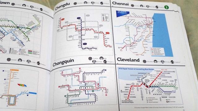 まったく知らない町のまったく知らない地下鉄路線網を愛でる至福のとき