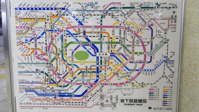 都営地下鉄公式路線図