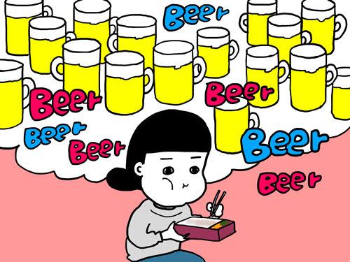 脳内にわきあがるビール