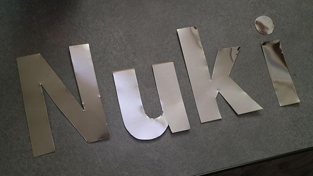 自分の屋号は長く、予算の関係上Nukiに。
