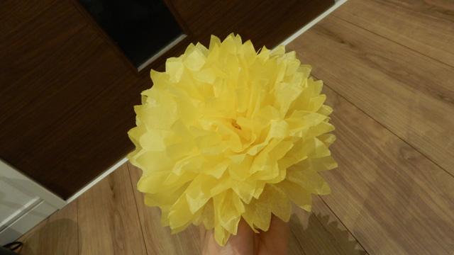 これが紙花。