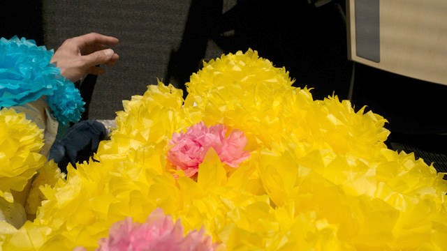 花マンが自分を見るとこんな感じだ。妙にでかいなあと思う。