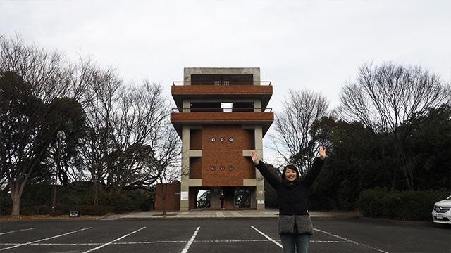 やってきたのは福岡市植物園近くにある展望台。無人で無料!