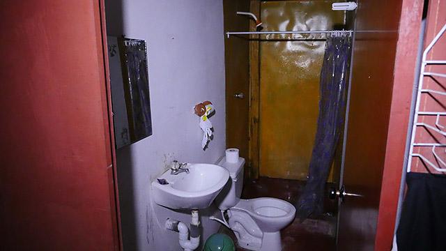 コテージのシャワーとトイレ