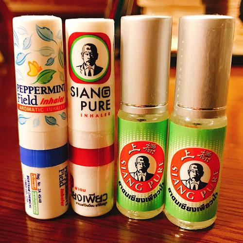 メンソール系の液体が入ってて、鼻から吸うとシャキっと、スッキリとする。それぞれどう違うんだろう?