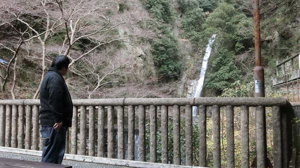 この後、お腹がいっぱい過ぎて休憩のために滝を見て休んだ。