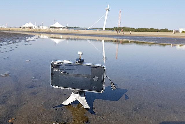 三脚が水につかる場所で撮ります。