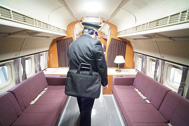 ここはVIP席。天皇陛下も乗られたらしい。
