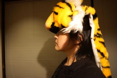 虎だけ被っても違和感ない大きさは「もののけ姫」がやれる勢い。