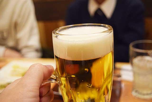 これが実際の生ビールなのだが、
