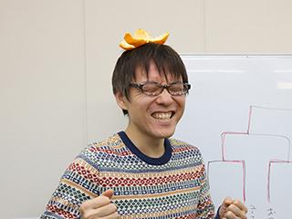 DPZ石川さんに王冠代わりにみかんの皮をかぶせてみたが、なんかあまり「勝者!」って感じがしなかったので、本編では写真を使わなかった。