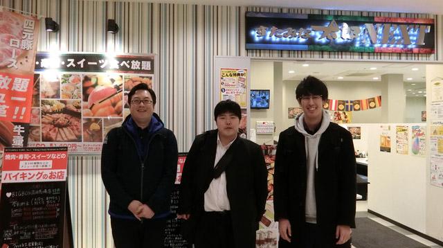左からライターの西村さん、私、megayaさん。