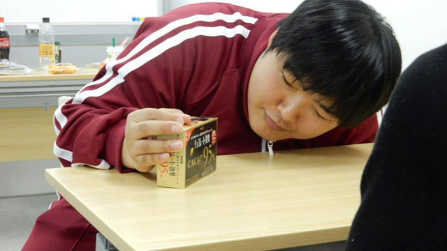 江ノ島くんはこの後もカカオ95%のチョコレート効果を「苦いから薬だ」と主張してご両親に連絡されていた。
