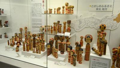 横浜人形の家にはこけしも並んでいた。そういえばこけしも人形だったな。