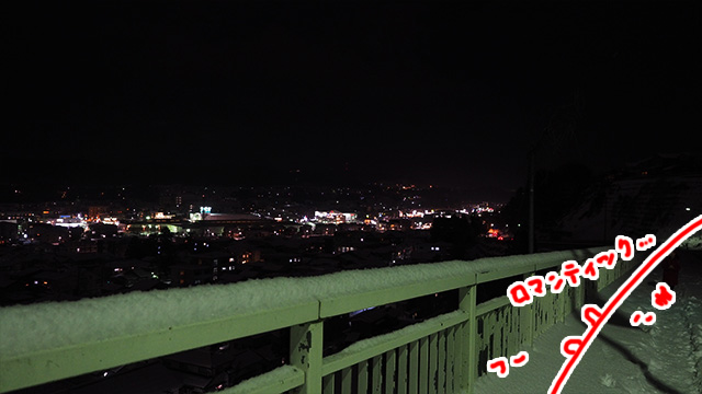 あった! 坂から見下ろす金沢の夜景スポットだ。
