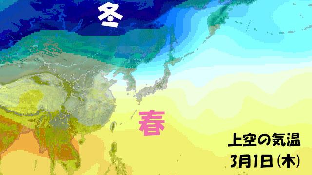 来週になると、南から春の空気がときどき顔を出す。