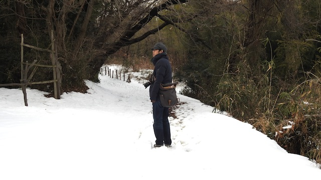 史跡となっている「絹の道」にも行ってみたが雪でシルキーなことになっていた。