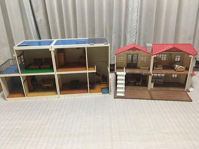 子供たちの夢の家とお祖父さんの夢の家を並べてみた