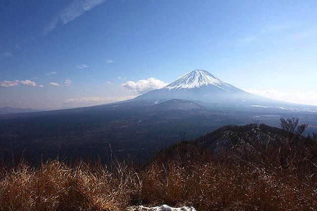 どうですか、これが日本一の山です。