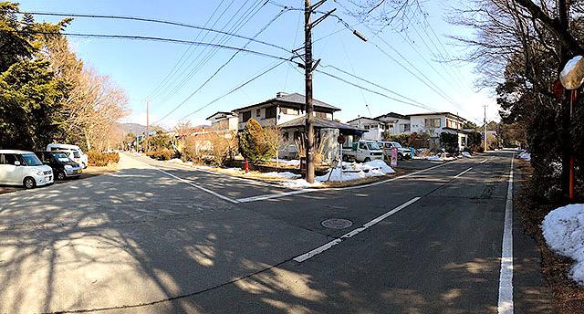 エリア445の角。見事に長方形の町です。