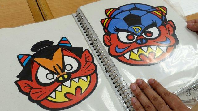 相撲がベースの「ドスコイ鬼」(1993年)と、サッカーがベースの「鬼九郎」(1994年)。鬼九郎は「きっくろう」と読みます。