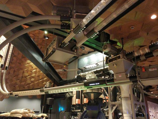 これは天井に張り巡らされており、運ばれている。