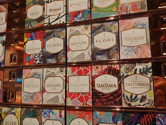 よく見るとコーヒーの生産国ごとのステッカー。我が(?)ベトナムもこの中にある。