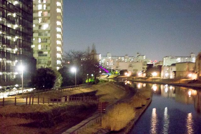 旧中川はかわいらしい川だが、この後の荒川はたぶんたいへん。