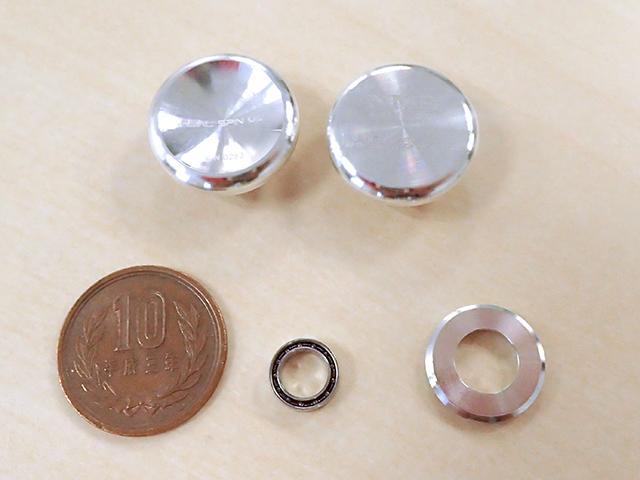 『Real Spin Ms'』に使用されているパーツ。下段中央の小さいのが核となるベアリングだ。