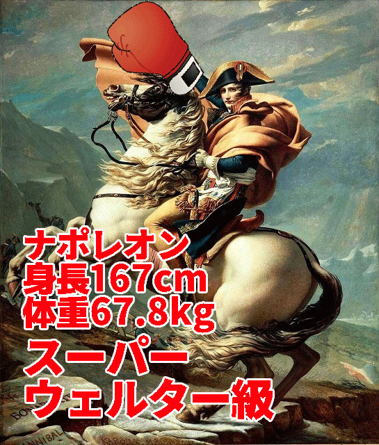 左利きだったというナポレオン。サウスポースタイルで、うるさい松木安太郎の顔面を破壊