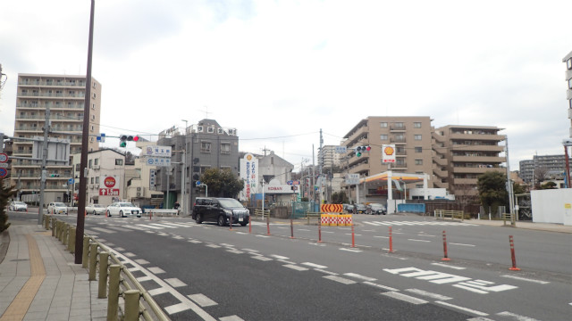 東埼橋交差点にやってきた