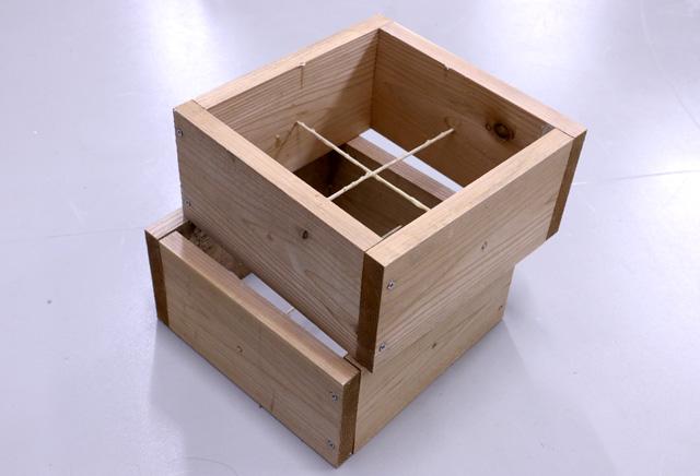 これはミツバチを飼うための巣箱