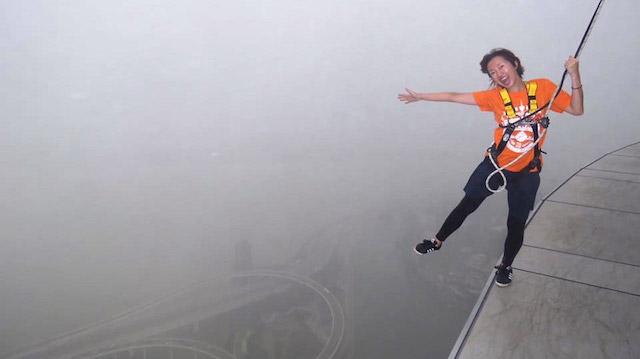 高さ233メートル、正気の沙汰ではない