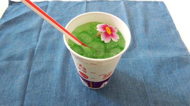 花を浮かべたメロンソーダがすごくよかった。特別な休日に飲む特別なメロンソーダ。