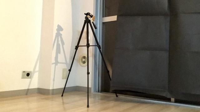大きいカメラがないので三脚だけという張り込みにあるまじき仕様。でもそれっぽい。