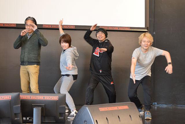 花川さん(一番左)と、どこからどう見ても割れそうにない3人