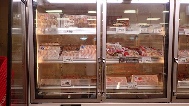 エビを凍らせておく場所、それが冷凍コーナー。