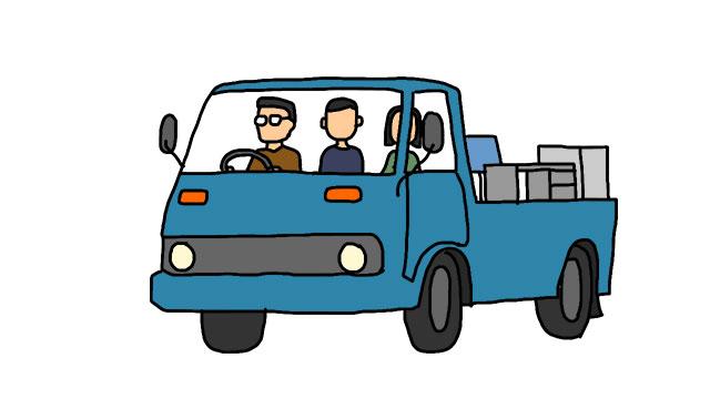 父と母と3人でオフィス家具を借りたトラックに積みこんだ。泥棒みたいだった。
