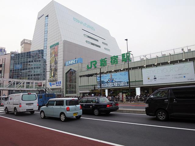 現在はJR新宿駅の南口改札と