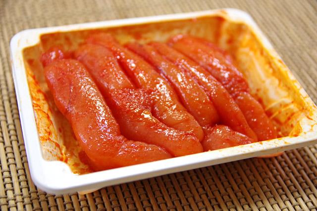 韓国の明太子。確かに日本で食べる明太子と同じものだった。