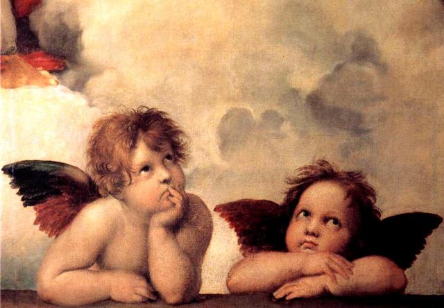 掲載元:https://commons.wikimedia.org/wiki/File:Sanzio,_Raffaello_-_Putti_(Madonna_Sistina)_-_1512-1513.jpg
