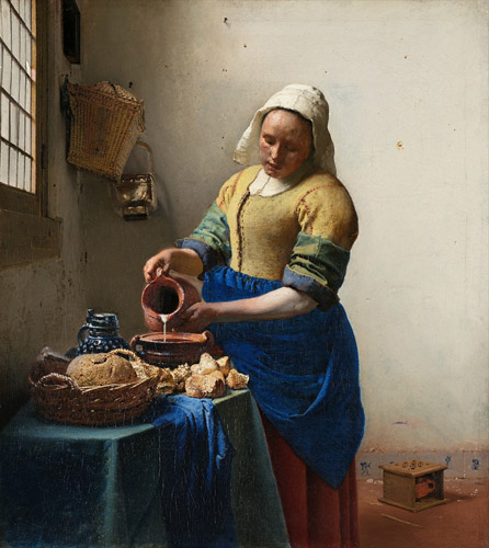 掲載元:https://commons.wikimedia.org/wiki/File:Johannes_Vermeer_-_De_melkmeid.jpg
