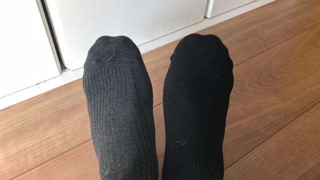 勘違いして間違えたペアのまましまってしまう時もある。そういう時は履いてから気がつく。