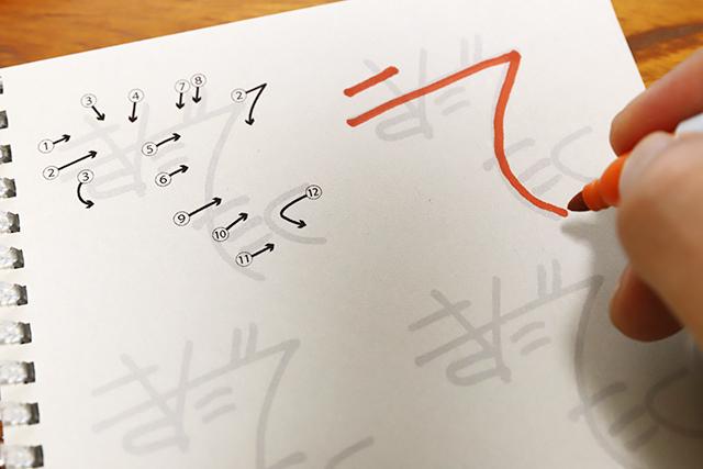 サイン初心者はなぞり書きから始めるのが基本。