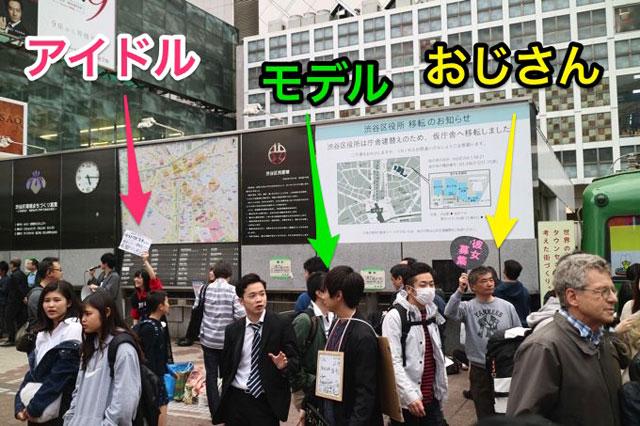 とある休日の渋谷駅前。ポケモンならコラッタ並に看板を持っている人が存在していると言っていい。べつの日はフリーハグだけで半径数十m以内に5組いたほどだ。