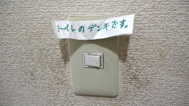 トイレのデンキ、このアナウンスないとかなり迷う。