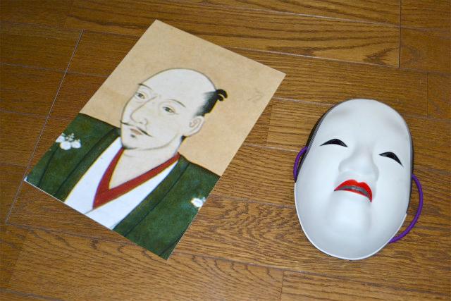 今回ご協力をおねがいした織田信長さんと能面の小面さん